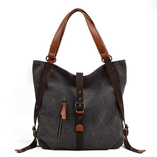 Rayem Mode-Handtasche, Damen-Leinwand-Schultertasche, Multifunktionsrucksack, 31 * 10 * 35Cm,Blue,M