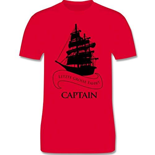 JGA Junggesellenabschied - Captain Letzte große Fahrt - Herren Premium T-Shirt Rot