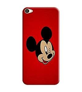Vivo V5 Plus Back Cover designer 3D Hard Mobile Case printed Cover for vivo v5 plus by Gismo - Mickey Mouse Red