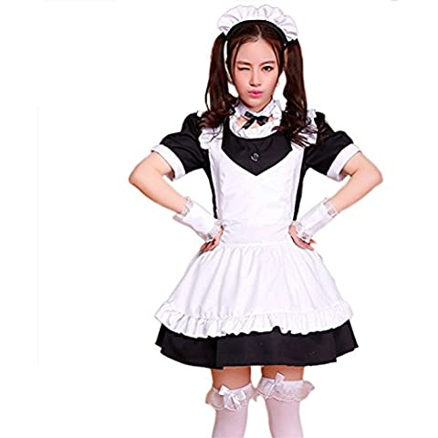 tzm2016 Anime cosplay Lolita maid Costume dress,