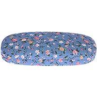 SUPVOX Funda Floral para Gafas de Sol Estuche rígido para Gafas Gafas Protectoras para Gafas Funda (Azul)