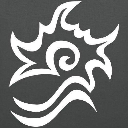 Spreadshirt East Wind Break After Ora Segno Del Marchio Borsa Di Stoffa Grafite