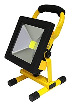 20w Slim Rechargeable LED Portable Work Floodlight Indoor/Outdoor Use IP65 Cordless by Long Life Lamp Company