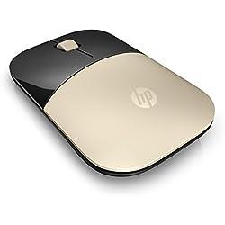 HP Z3700 Gold Wireless Mouse - Souris sans fil - Doré/Noir