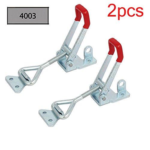 2Pcs Metall Hebel Verschluss Spannverschluss Kistenverschluss Kappenschloss 4003 300KG / 661lbs Halten Kapazität Latch Button Toggle Latch