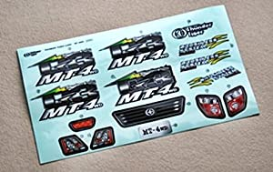 """Trueno del tigre """"MT4 Decal Set"""" para vehículos de juguete controlado a distancia"""