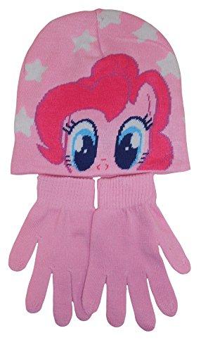 Hunter Price My Little Pony Girls Hat & Gloves Set - Choose Pink or Blue (Pink)