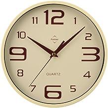 Premier Housewares - Reloj de pared redondo (números grandes y pequeños), ...
