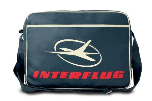 Logoshirt Sport Bag Interflug Classic (Landscape) Sport Bag Fake Leather Mittelblau -