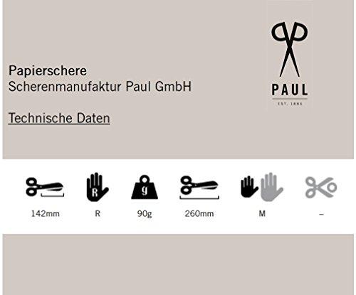 Paul 974 Papier Schere, Bastelbedarf, 26 cm lang, schwarz
