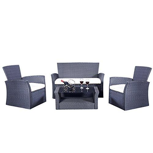 Rattan Gartenmöbel Rattanmöbel Set Lounge Polyrattan Sitzgruppe