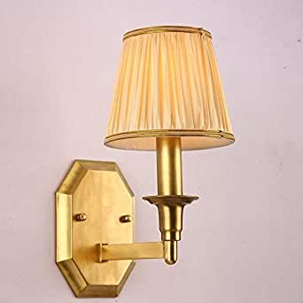 LLYY-American copper wall lamps bedside lamps hallway living room balcony mirror lights American ...