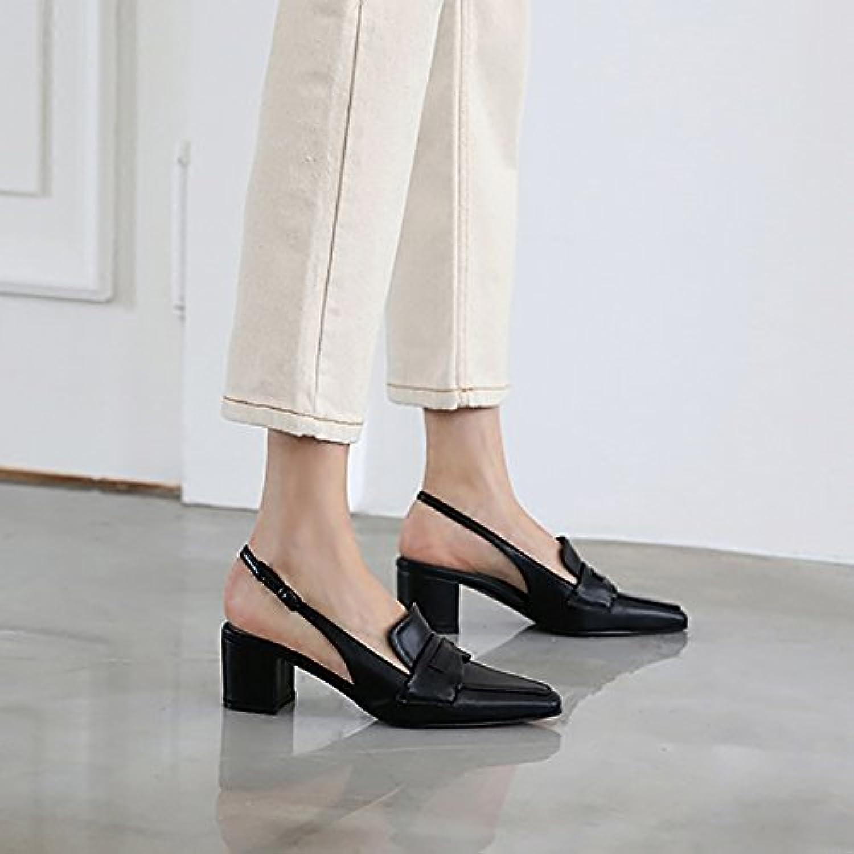 Xue Qiqi Scarpette Scarpe da donna selvagge dopo la parola fibbia appuntite scarpe singole donne con spessi sandali...   Chiama prima    Sig/Sig Ra Scarpa