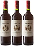 Château Amelisse France Bordeaux MDC AOP Saint Emilion 75 cl - Lot de 3
