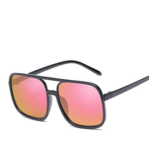 RyimsD Mode Trendy Brille Pilot Sonnenbrille Reflektierend Linse Sonne Metall Farbe Brille Männer Und Frauen,N01