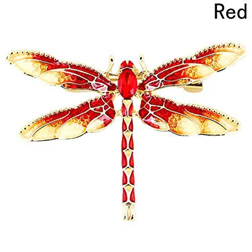 HUNANANA Dragonfly Broschen Für Frauen Green Emaille Insect Crystal Dragonfly Brosche Männer Anzug Kleid Pins Und Broschen