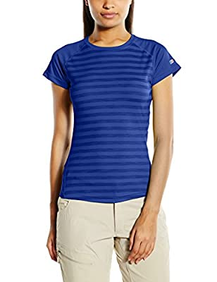 Berghaus Damen T-Shirt Stripe Short Sleeve Crew Baselayer von Berghaus - Outdoor Shop