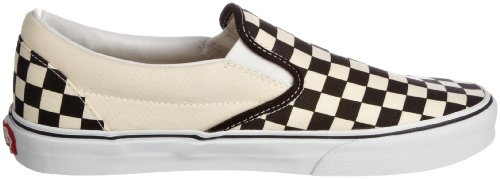 Vans Unisex Adults' Classic Slip On, Black (Black And White Checker/White), 8 UK