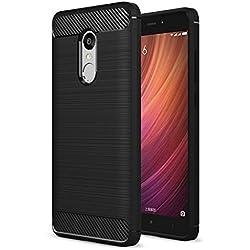 ZAPCASE Back Cover Case Compatible for Xiaomi Redmi Note 4 Cases & Covers (Carbon Fiber Rugged Armor Black Color) (Xiaomi Redmi Note 4, Black)