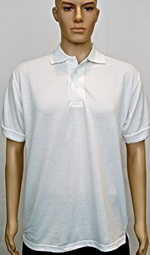 Donna Leisure Casual Tee Manica Corta Polo Sport Lavoro Workwear White Large