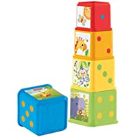 Fisher-Price Cubes Découvertes, jouet pour bébé à empiler et à emboîter, 6 mois et plus, CDC52