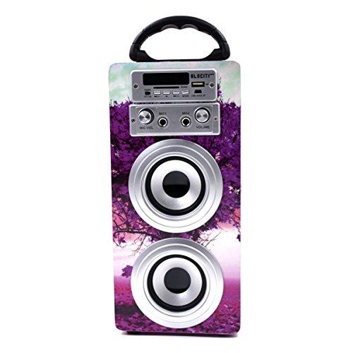ELECITI Altavoz Bluetooth - Karaoke de Diseño con Micrófono, árbol rosa