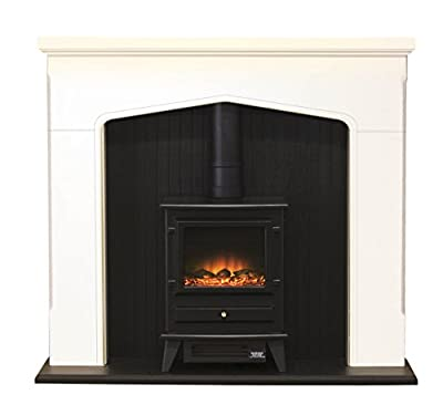 Adam Ludlow Stone Effect Electric Stove Suite, 2000 Watt