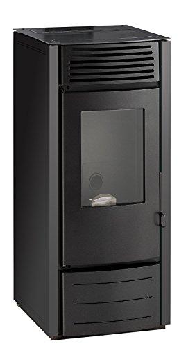 Interstoves - Poele A Granules Marina 10Kw Avec Réservoir 25Kg (Rendement 88,2%) - Noir - Option Wifi