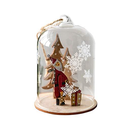 DIY Weihnachtsanhänger Holz Weihnachtsbaumschmuck mit LED Flaschenlichter Deko Weihnachtsgeschenk für Fenster Weihnachten Party Romantische Deko