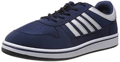 Sparx Men's Navy Blue and Silver Synthetic Sneakers - 10 UK