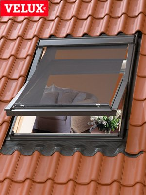 VELUX Awning Blinds Less Heat Roof Window Skylight Roller In Black Net 5060 Amazoncouk Kitchen Home