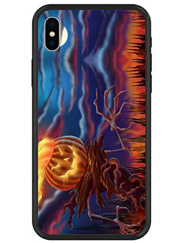 lugeke Happy Halloween TPU + PC Schutzhülle für iPhone X Hybrid Kissen Schutzhülle Handy für Apple iPhone 10Kratzfest, p4