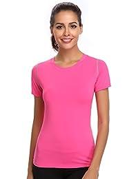 061d5cfb5b93 Joyshaper Training Top Damen Yoga Fitness Top T Shirt Quick Dry Kompression  Sport Tanktop Sportshirt Trainingsshirt Shirt…