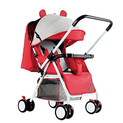 CHEERALL Kinderwagen für Neugeborene leichte und tragbare Faltbare Kinderwagen Infant Simple Umbrella Kinderwagen Zwei-Wege-Implementierung Kinderwagen,F