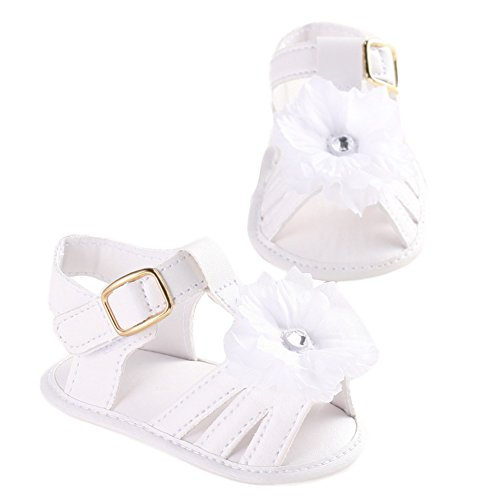WAYLONGPLUS Baby Mädchen weiche Sohle Anti-rutsch Prewalker Schuhe Weiß