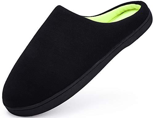 Yooeen Zapatillas de Estar por casa para Hombre Cálido Interior Pantuflas de Casa Mujer Memoria Espuma Ultra-Ligero Cómodo Zapatos de Algodón de Punto para Invierno Otoño 38/39 EU