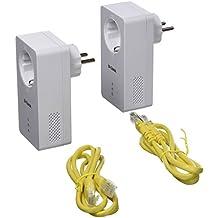 D-Link DHP-P601AV – Kit Powerline AV2 PLC 1000 extensor de red por cableado eléctrico del hogar, con toma de enchufe Passthrough (1000 Mbps PHY, puerto LAN Gigabit 10/100/1000 Mbps), blanco