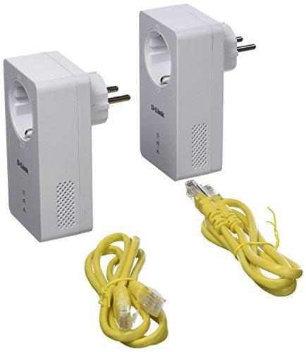 D-Link DHP-P601AV PowerLine Gigabit Passthrough Kit (AV2, enthält zwei Adapter, Datenübertragunsraten von bis zu 1000 Mbit/s)