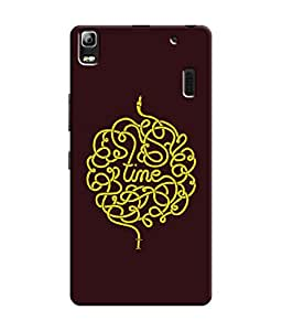 """NH10 DESIGNS 3D PRINTING DESIGNER HARD SHELL POLYCARBONATE """"TIME """" PRINTED SHOCK PROOF WATER RESISTANT SLIM BACK COVER MATT FINISH FOR LENEVO A7000"""
