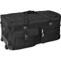 GearUp Extra großer Trolley - Reisekoffer Reisetasche 80 100 120 Oder 150 Liter wählbar Farbe Schwarz/120 Liter