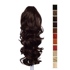 Prettyland - 60cm Extension Clip di estensione dei capelli ponytail della clip coda di cavallo ricci Haarteil- OW-083