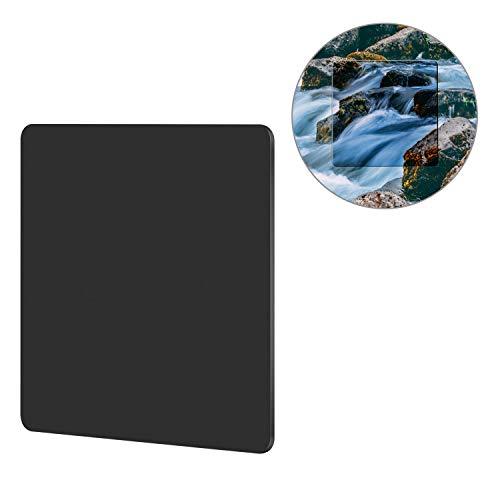 Neewer 100x100mm ND64 Neutral Dichte Filter 6-Stufen Reduzierung der Belichtung MRC ND mit Filterbeutel für fließendes Wasser, Fluss, Wasserfall, Wolke, Sonne, Sonnenfinsternis, usw. Fotografie