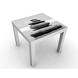 Apalis Design Table Sandy Stones no.2 55x55x45cm, Table Colour:White;Dimensions:55 x 55 x 45cm