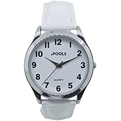 POOLS Women's Quartz Watch Analogue Display and Leather Strap 1243