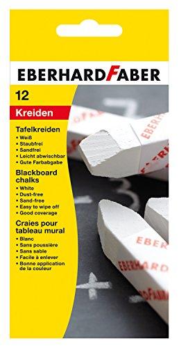 Eberhard Faber 525000 Wandtafelkreide 12er Stück, weiß