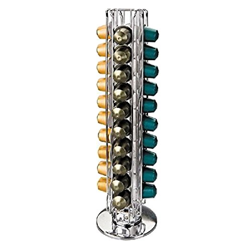 IBILI Nespresso porta torre capsula, stand Capsule per 40 capsule Nespresso, finitura a specchio