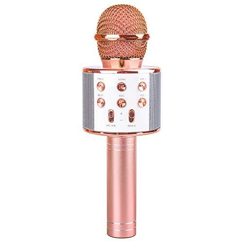 Tmox Mikrofon Geschenk Mädchen im Alter von 5-12, Wireless Karaoke Mikrofon Spielzeug Mädchen und Kinder 6-11 Jahre alt singende Geschenke von Mikrofon 6-11 Jahre altes Mädchen jugendlich