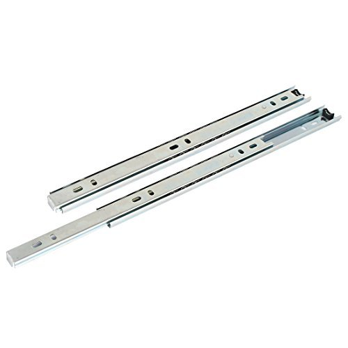 DealMux Ball Bearing 12 300mm Length Drawer Slide Track Rail Silver Tone - Side-mount-tool-box