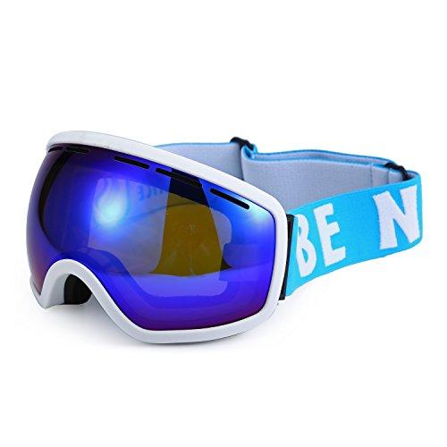 Huntvp Gafas de Esquí Gafas Snowboard con Lente Anti-Niebla de dual C