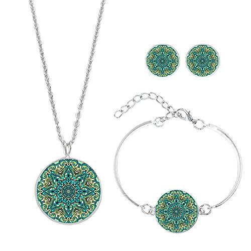 LAAT 1PC Armbänder für Damen Ohrringe für Damen Damen Halskette DREI Sätze Verbessere Dein Temperament Kann einem Freund geschenkt Werden (Cm Ohrringe Und Kette 5 Lang)